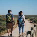 Walking in the saltmarshes of Ria Formosa Natural Park