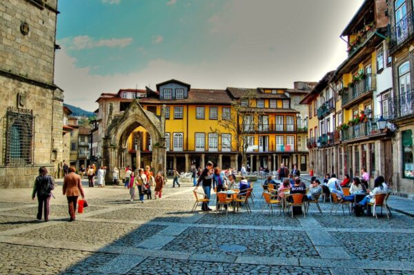Guimarães, known as the birthplace of Portugal. The city has a well-preserved medieval center,